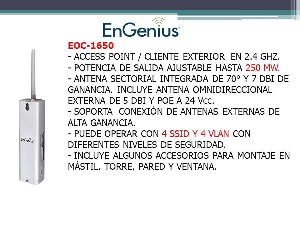 EOC-1650 - ACCESS POINT / CLIENTE EXTERIOR EN 2.4 GHZ.