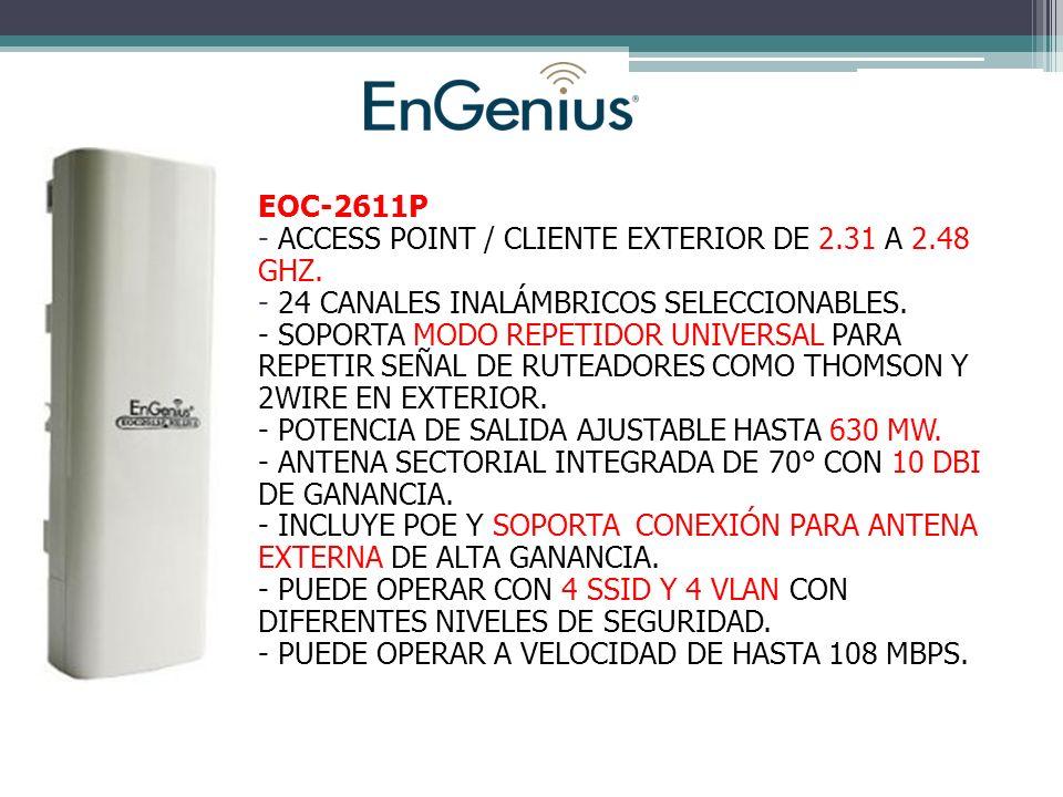 EOC-2611P - ACCESS POINT / CLIENTE EXTERIOR DE 2.31 A 2.48 GHZ.
