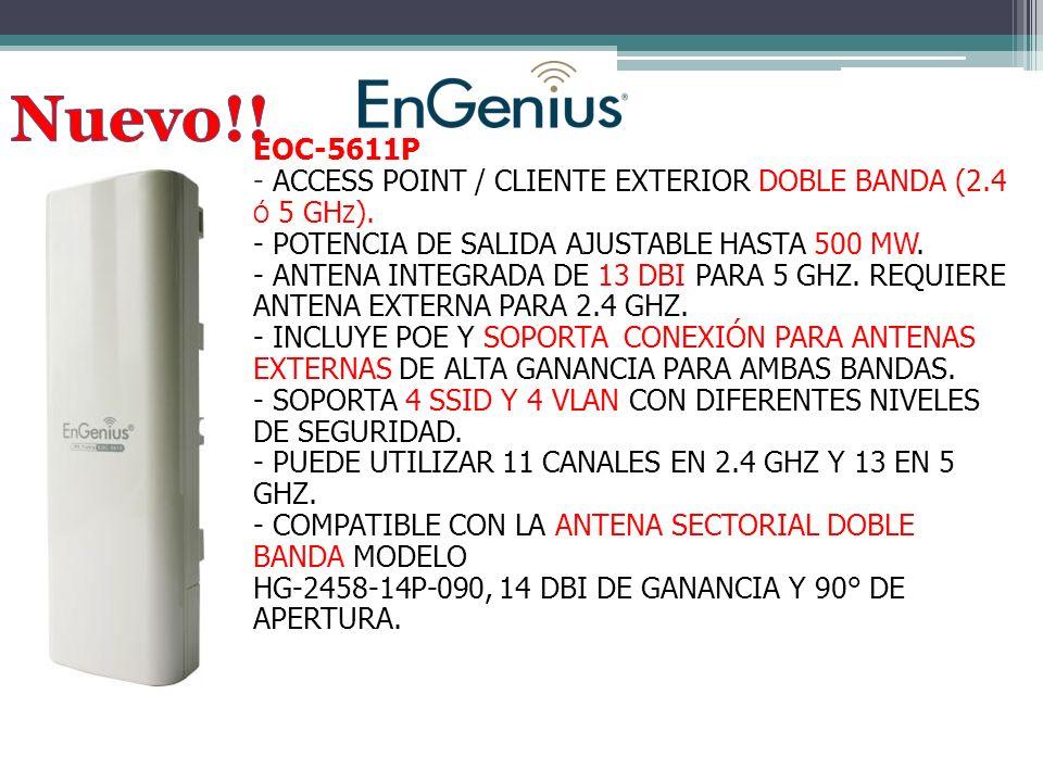 EOC-5611P - ACCESS POINT / CLIENTE EXTERIOR DOBLE BANDA (2.4 Ó 5 GH Z ).