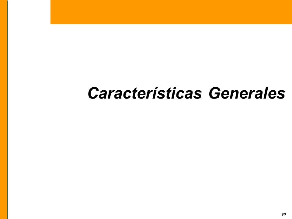 20 Características Generales 20