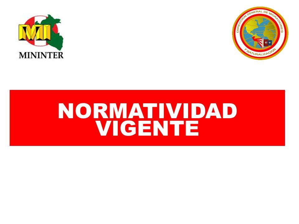 NORMATIVIDAD VIGENTE