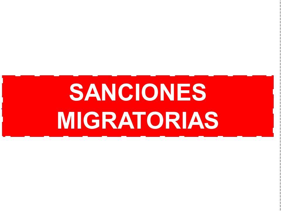 j SANCIONES MIGRATORIAS
