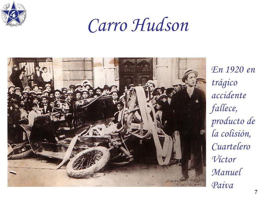 7 Carro Hudson En 1920 en trágico accidente fallece, producto de la colisión, Cuartelero Víctor Manuel Paiva