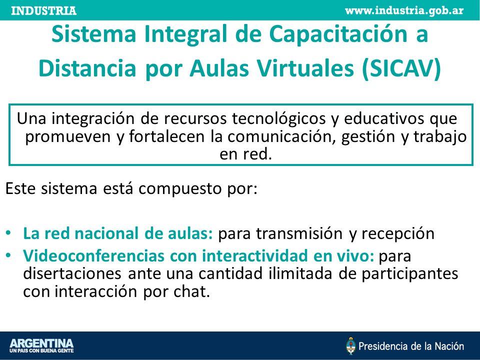 Sistema Integral de Capacitación a Distancia por Aulas Virtuales (SICAV) Una integración de recursos tecnológicos y educativos que promueven y fortalecen la comunicación, gestión y trabajo en red.