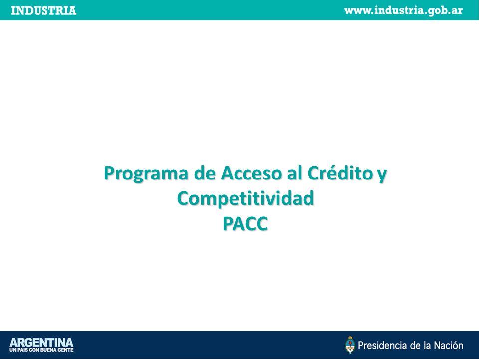 Programa de Acceso al Crédito y Competitividad PACC