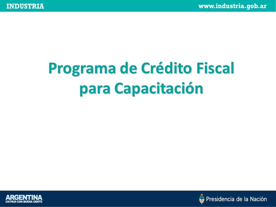 Programa de Crédito Fiscal para Capacitación