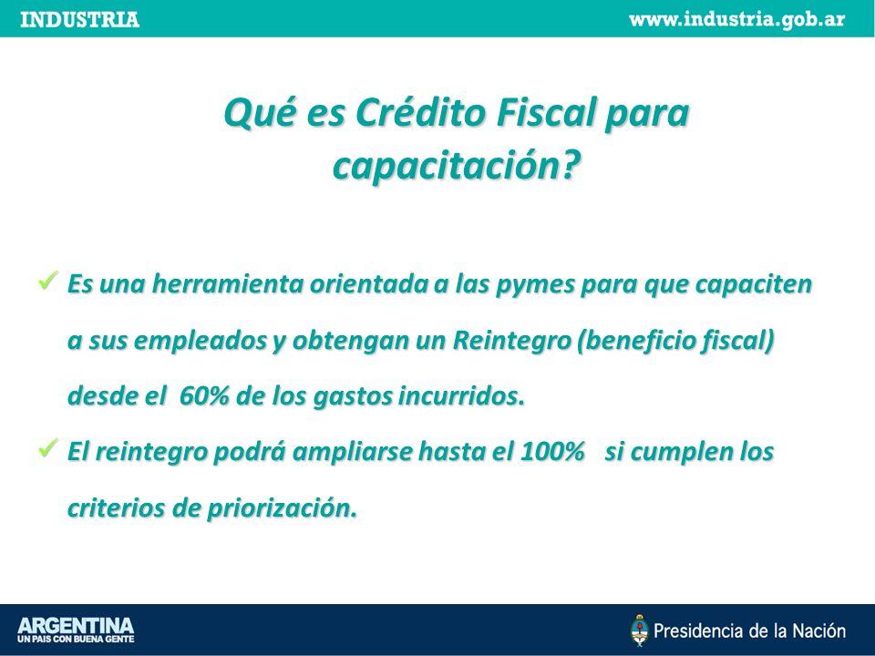 Es una herramienta orientada a las pymes para que capaciten a sus empleados y obtengan un Reintegro (beneficio fiscal) desde el 60% de los gastos incu