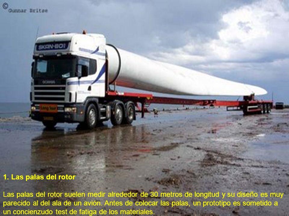 1. Las palas del rotor Las palas del rotor suelen medir alrededor de 30 metros de longitud y su diseño es muy parecido al del ala de un avión. Antes d