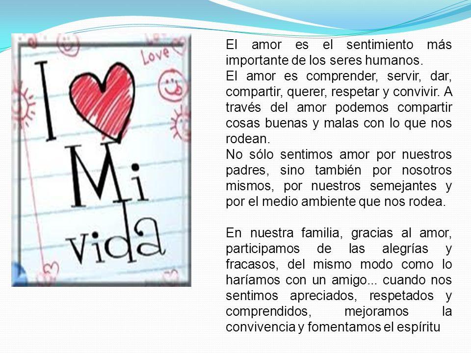 El amor es el sentimiento más importante de los seres humanos.