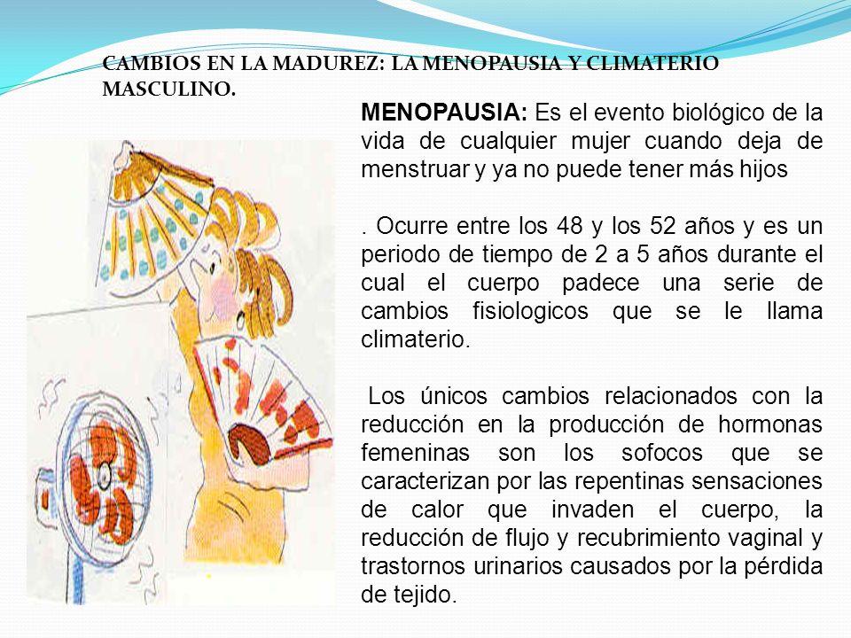 CAMBIOS EN LA MADUREZ: LA MENOPAUSIA Y CLIMATERIO MASCULINO.