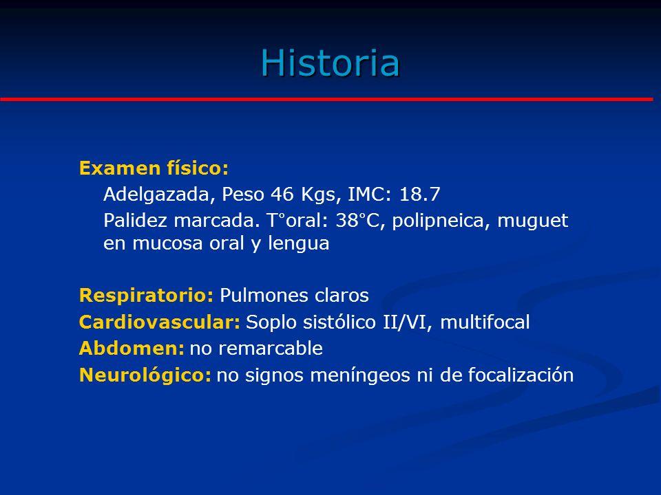 Exámenes de Laboratorio Hematológicos: Hemoglobina: 6.4 gr/dL.