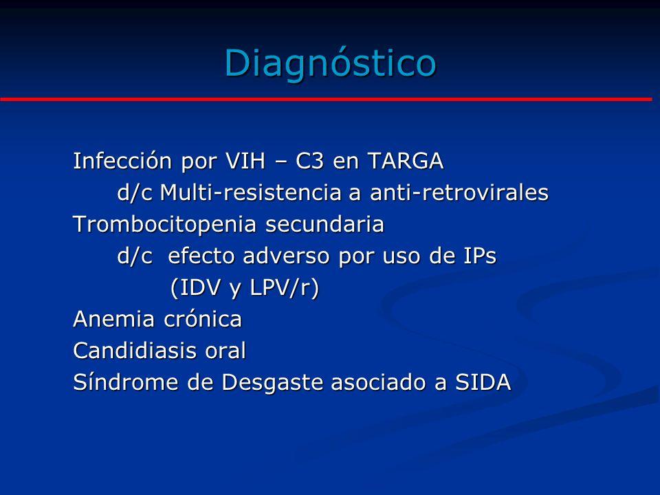 Problemas ¿A que se debe la trombocitopenia en este paciente.