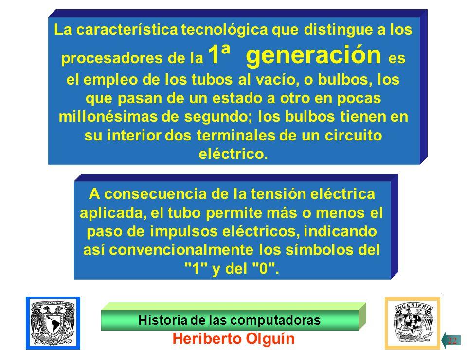30/ABR/1999 En 1946 aprece la ENIAC (Electronic Numerical Integrator and computer), conformada, entre otros componentes, por 18,000 bulbos, pesa más de 30 toneladas y ocupaba una superficie de 180 metros cuadrados; además tenía 3 metros de alto.