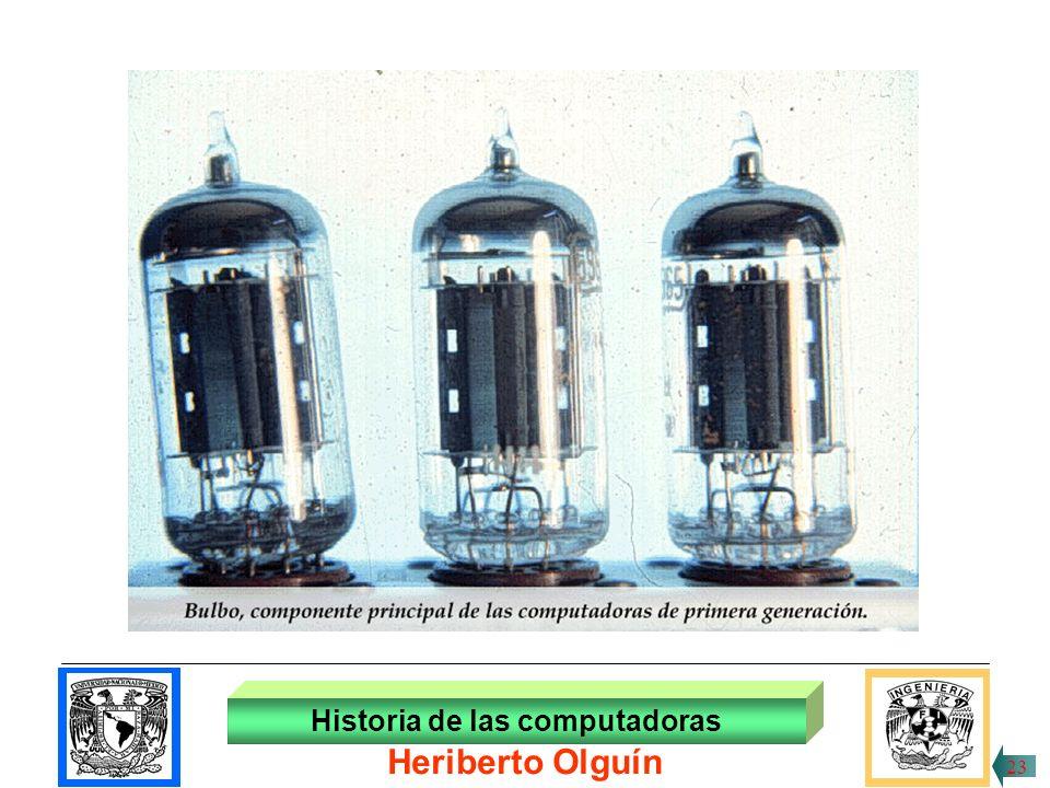 30/ABR/1999 La característica tecnológica que distingue a los procesadores de la 1ª generación es el empleo de los tubos al vacío, o bulbos, los que pasan de un estado a otro en pocas millonésimas de segundo; los bulbos tienen en su interior dos terminales de un circuito eléctrico.