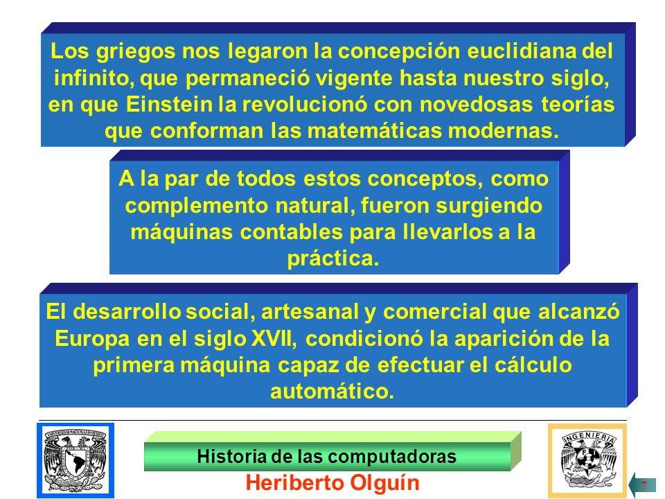 30/ABR/1999 Los griegos nos legaron la concepción euclidiana del infinito, que permaneció vigente hasta nuestro siglo, en que Einstein la revolucionó con novedosas teorías que conforman las matemáticas modernas.