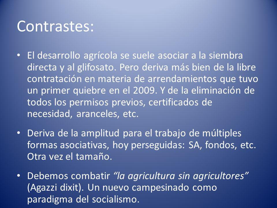 Contrastes: El desarrollo agrícola se suele asociar a la siembra directa y al glifosato.