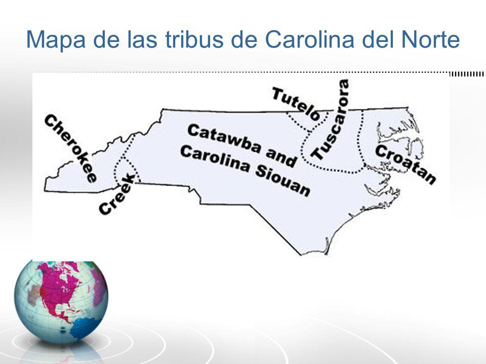 Mapa de las tribus de Carolina del Norte