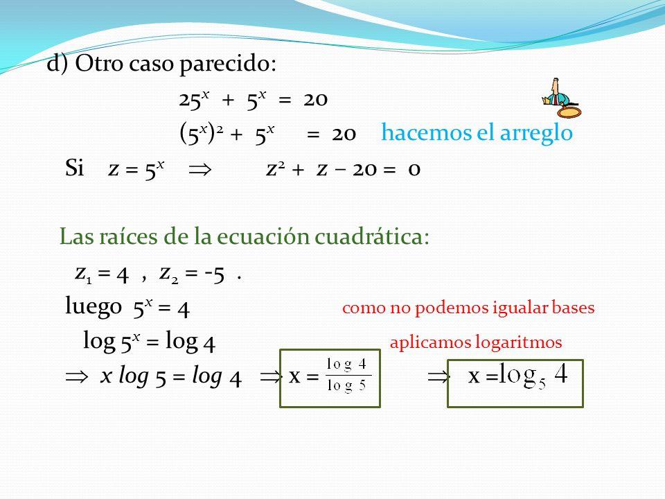 Ecuaciones Logarítmicas Definición: Es aquella en que la incógnita se encuentra en el argumento (número del logaritmo).