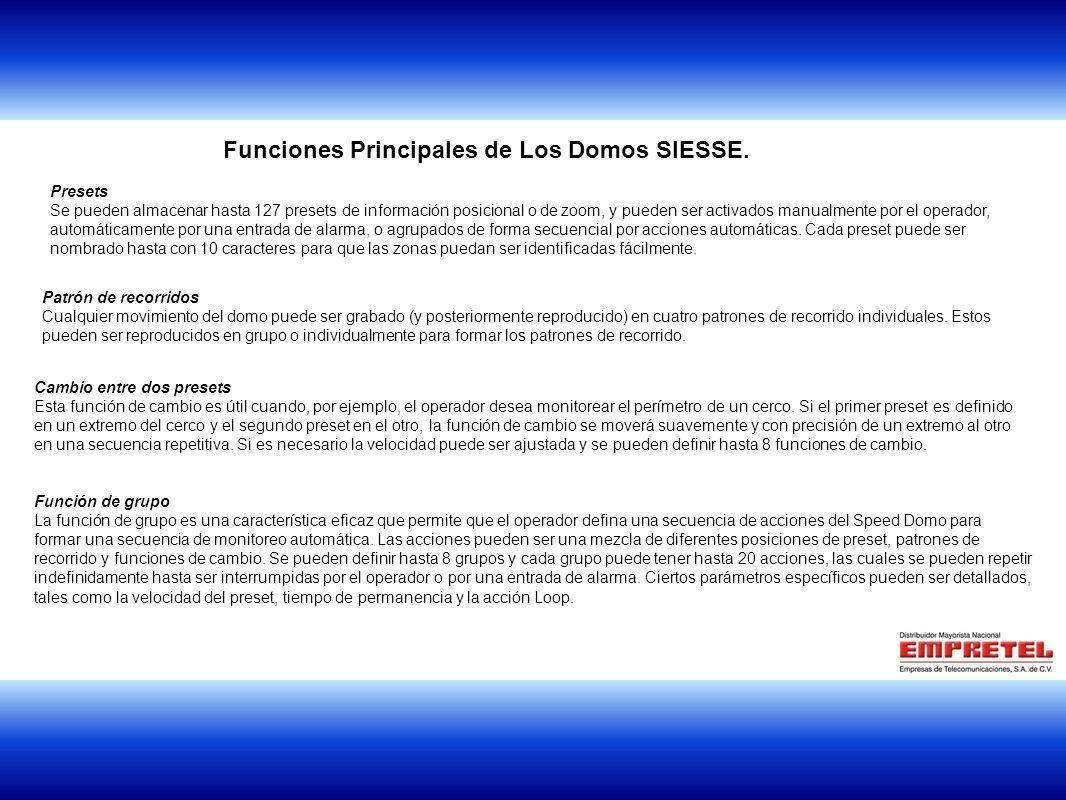 1 Funciones Principales de Los Domos SIESSE.