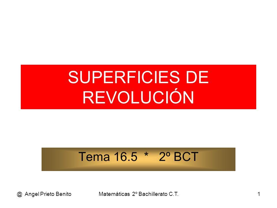 @ Angel Prieto BenitoMatemáticas 2º Bachillerato C.T.2 SUPERFICIES DE REVOLUCIÓN ÁREA DE UNA SUPERFICIE DE REVOLUCIÓN Imaginemos un arco de la curva expresada de forma explícita y = f(x).