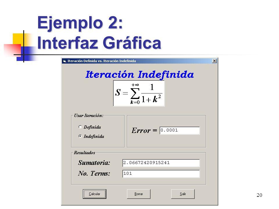 Clase 5 20 Ejemplo 2: Interfaz Gráfica