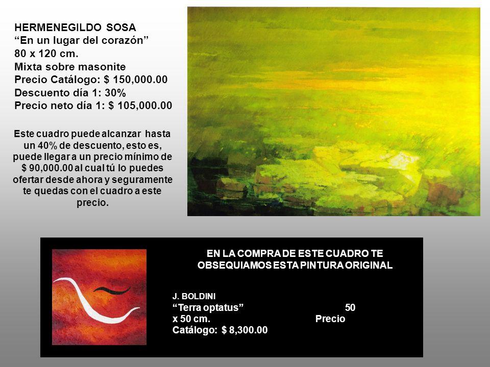 HERMENEGILDO SOSA En un lugar del corazón 80 x 120 cm.