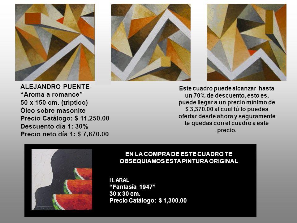 ALEJANDRO PUENTE Aroma a romance 50 x 150 cm.