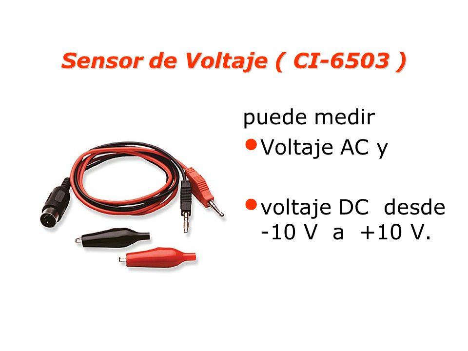 Sensor de Voltaje ( CI-6503 ) puede medir Voltaje AC y voltaje DC desde -10 V a +10 V.