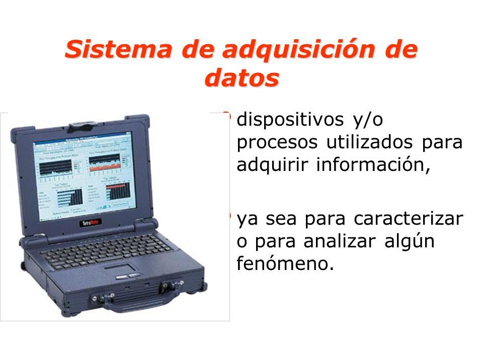 Ejemplo de sistemas de adquisición de datos Antiguamente: el registro, sobre un papel, de las temperaturas de un horno Actualmente: el registro se realiza a través de equipamientos electrónicos y computacionales.