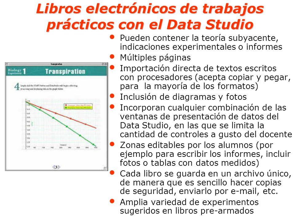 Libros electrónicos de trabajos prácticos con el Data Studio Pueden contener la teoría subyacente, indicaciones experimentales o informes Múltiples pá