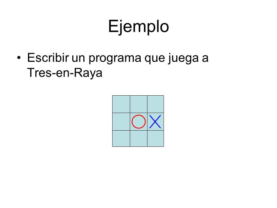Ejemplo Escribir un programa que juega a Tres-en-Raya