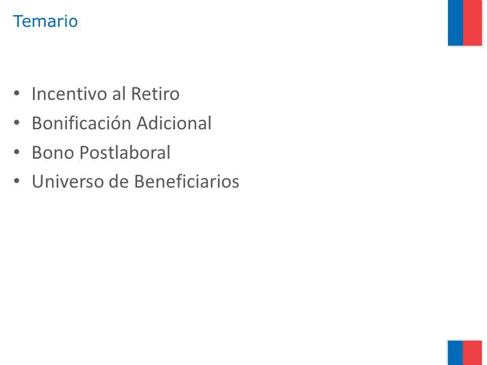 Incentivo al Retiro Antecedentes Generales Funcionarios y Funcionarias De Planta y a Contrata.