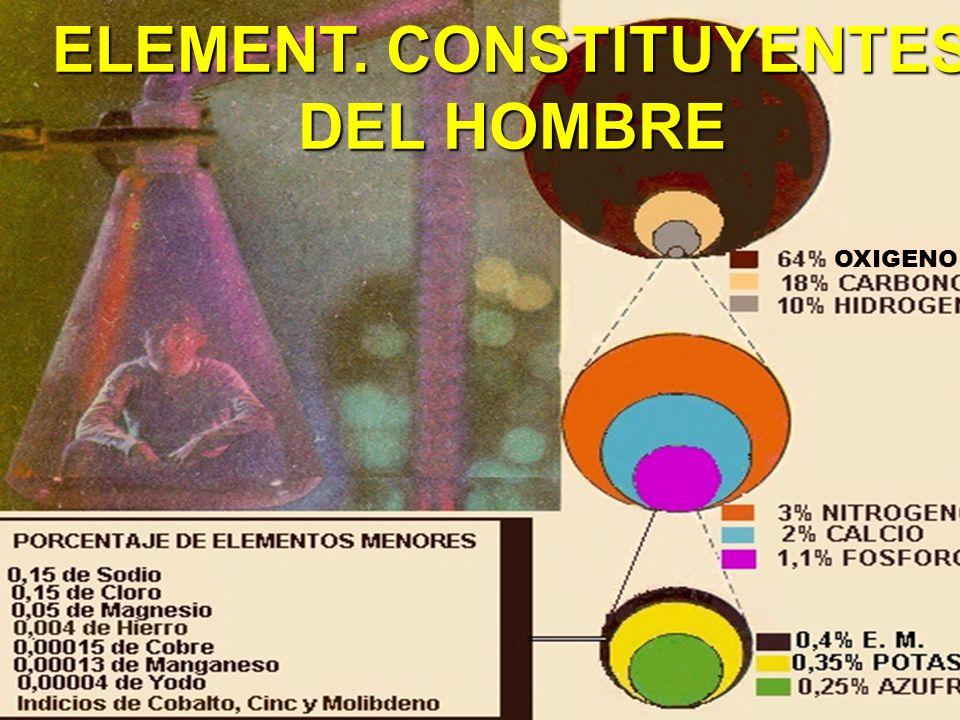 ELEMENT. CONSTITUYENTES DEL HOMBRE OXIGENO