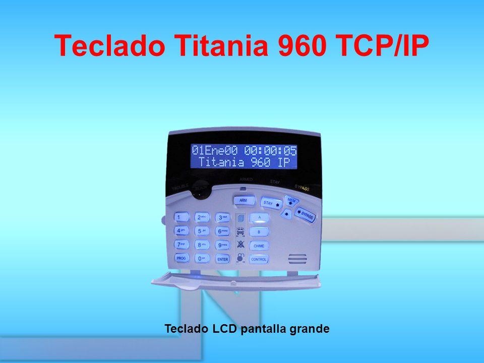 Teclado Titania 960 TCP/IP Teclado LCD pantalla grande