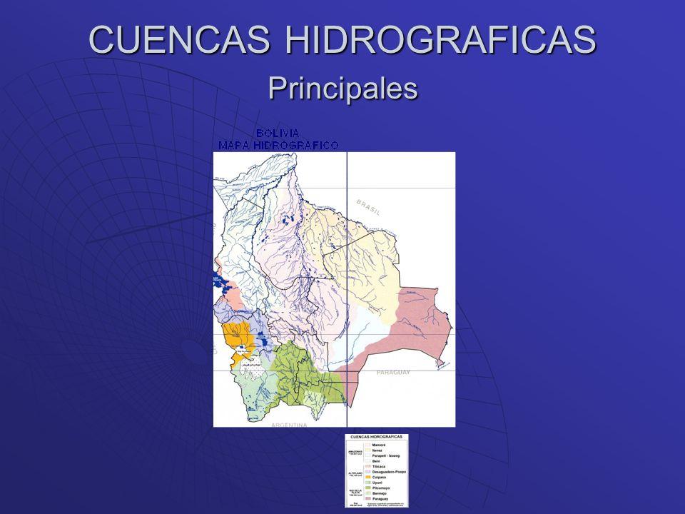 CUENCAS HIDROGRAFICAS Principales
