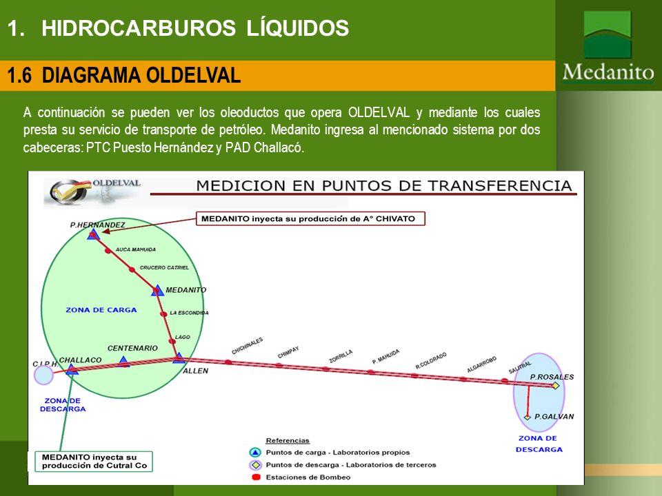 1. HIDROCARBUROS LÍQUIDOS A continuación se pueden ver los oleoductos que opera OLDELVAL y mediante los cuales presta su servicio de transporte de pet