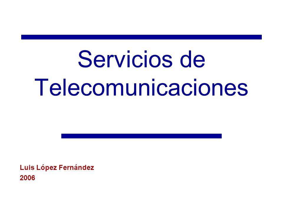 Servicios de Telecomunicaciones Luis López Fernández 2006