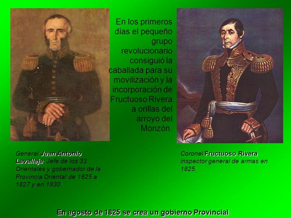 En los primeros días el pequeño grupo revolucionario consiguió la caballada para su movilización y la incorporación de Fructuoso Rivera a orillas del
