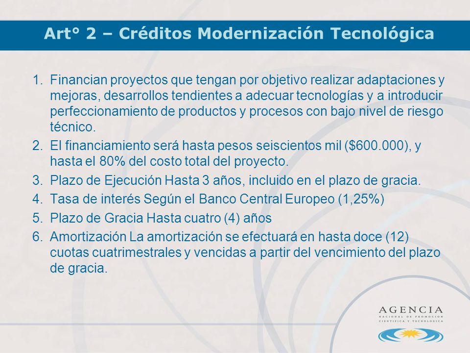 1.Financian proyectos que tengan por objetivo realizar adaptaciones y mejoras, desarrollos tendientes a adecuar tecnologías y a introducir perfeccionamiento de productos y procesos con bajo nivel de riesgo técnico.