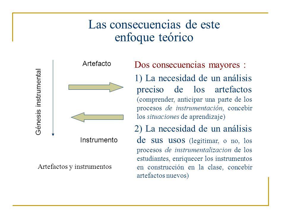 Una complejidad cada vez mayor de las herramientas Un control complejo a ejercer… Un mismo objeto, diferentes representaciones