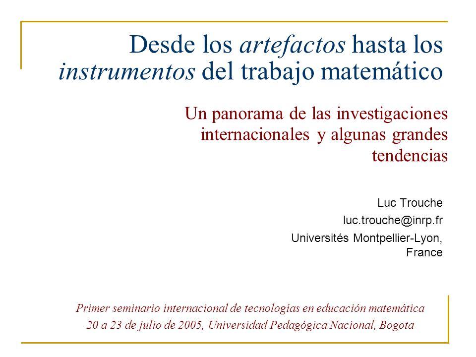 Segundo topico Los herramientas juegan un rol muy importante en la práctica, en la enseñanza y el aprendizaje de las matemáticas.