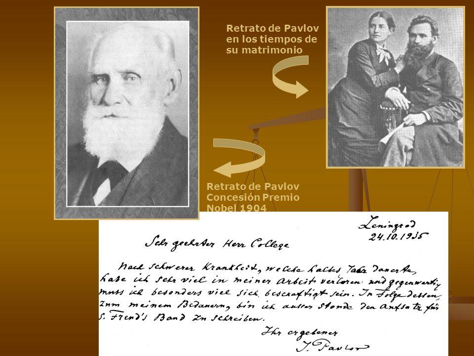 Retrato de Pavlov en los tiempos de su matrimonio Retrato de Pavlov Concesión Premio Nobel 1904