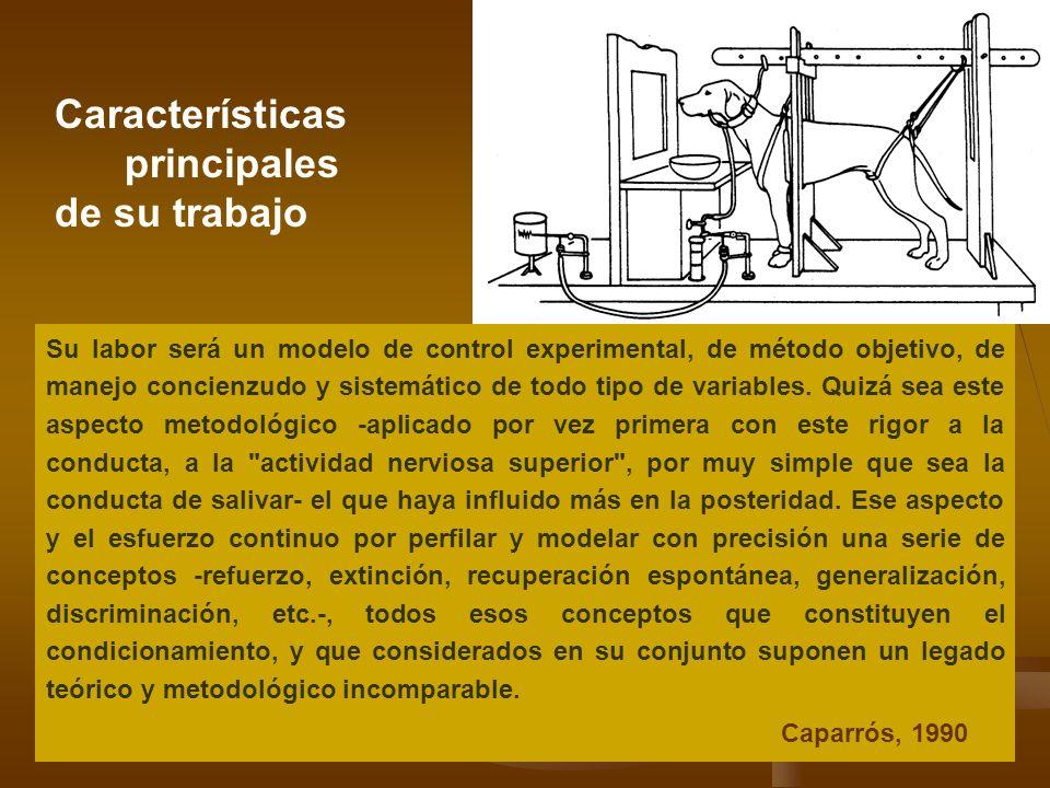 Características principales de su trabajo Su labor será un modelo de control experimental, de método objetivo, de manejo concienzudo y sistemático de