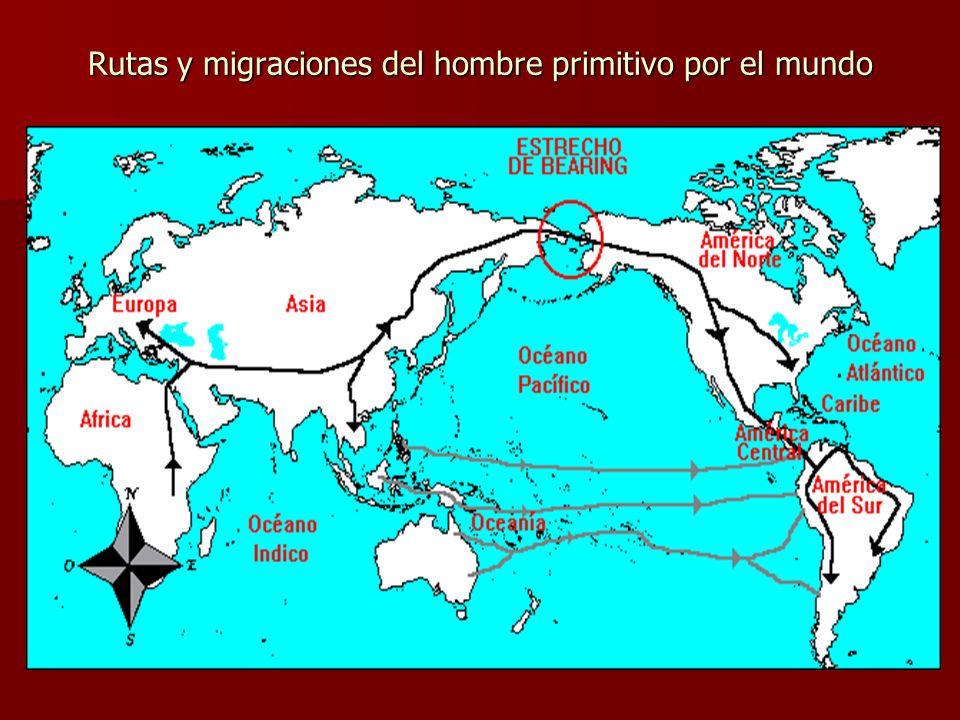 Rutas y migraciones del hombre primitivo por el mundo