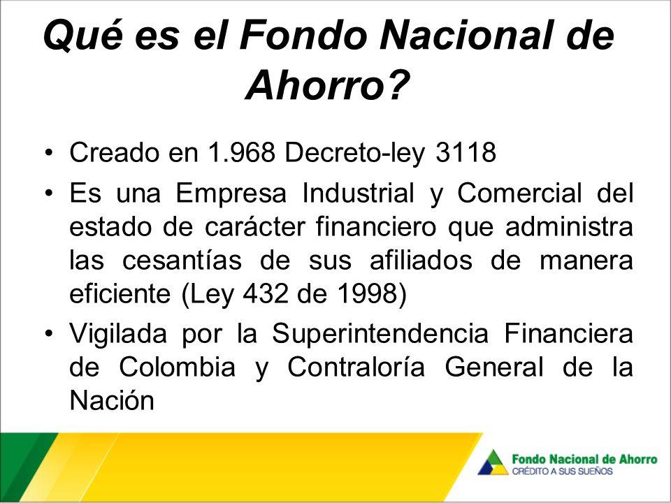 Qué es el Fondo Nacional de Ahorro.