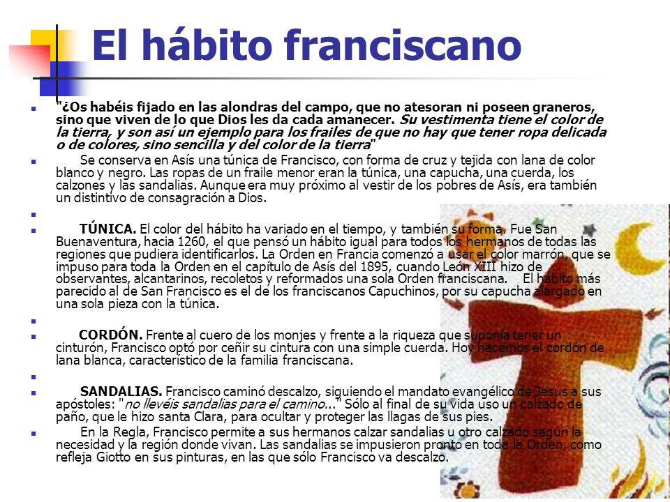 El hábito franciscano