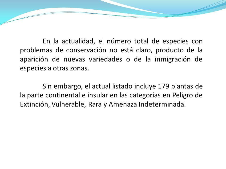 En la actualidad existen once especies de plantas distribuidas en Chile continental que están en Peligro de Extinción.