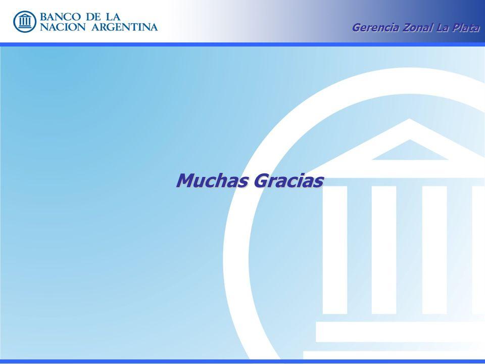 Muchas Gracias Gerencia Zonal La Plata