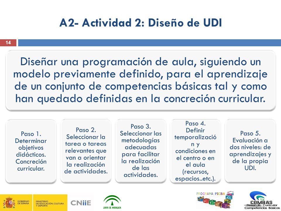 14 A2- Actividad 2: Diseño de UDI PROGRAMA PICBA