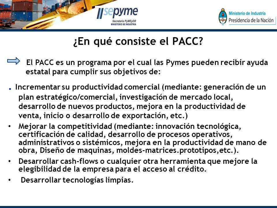 ¿En qué consiste el PACC .